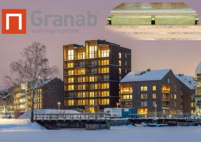 CLT Vesterås Kajstaden Tower 3000 m2 Granab